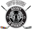 Logo Hockey is Diversity